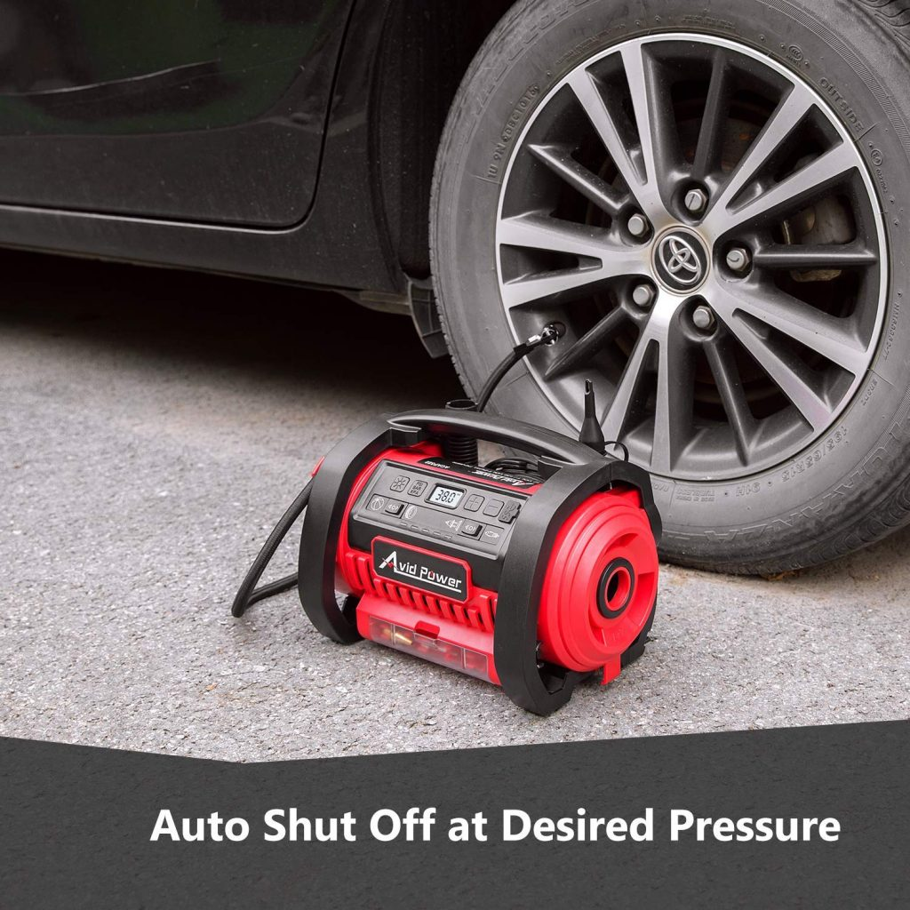 Tire Inflator Air Compressor by Avid Power