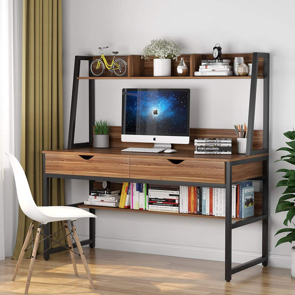 best small computer desk with hutch and drawers