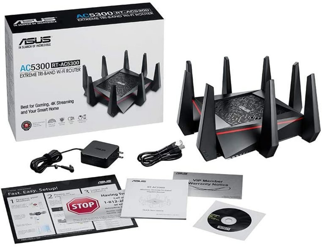 ASUS RT-AC5300 Tri-Band WiFi Gaming Router