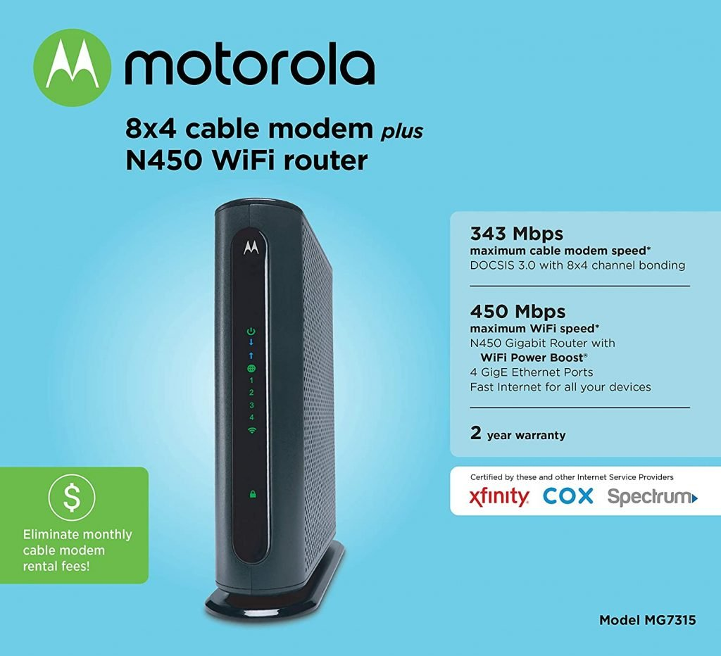MOTOROLA MG7315 Cable Modem Plus Router