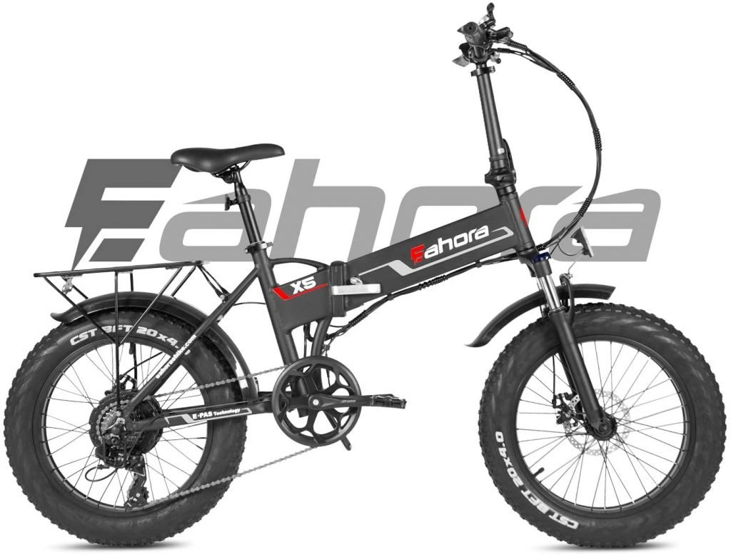 Eahora X5s 20 Inch Fat Tire Folding Electric Bike